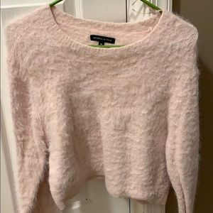 Kendal and Kylie collection fuzzy pink sweater